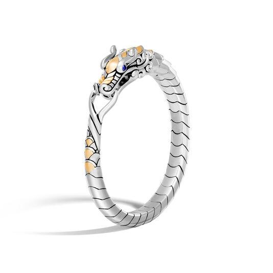 Legends Naga Bracelet in Silver and 18K Gold, Blue Sapphire, large