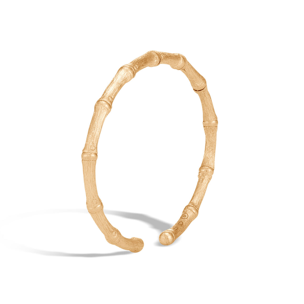 Bamboo 4MM Cuff in Brushed 18K Gold