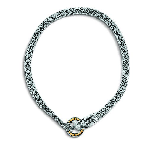 Legends Naga 11MM  Necklace in Silver and 18K Gold, , large