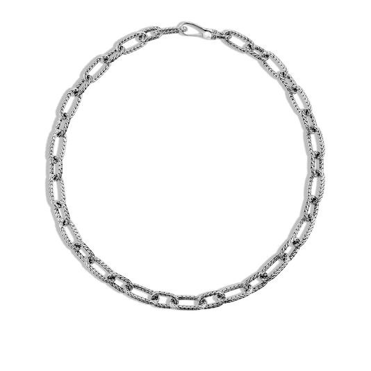 Classic Chain 12mm Link Necklace in Silver, , large