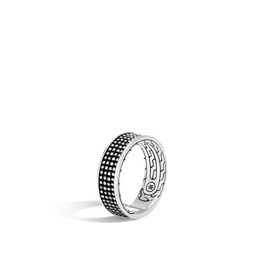 Chain Jawan 7.5MM Band Ring in Blackened Silver, , large