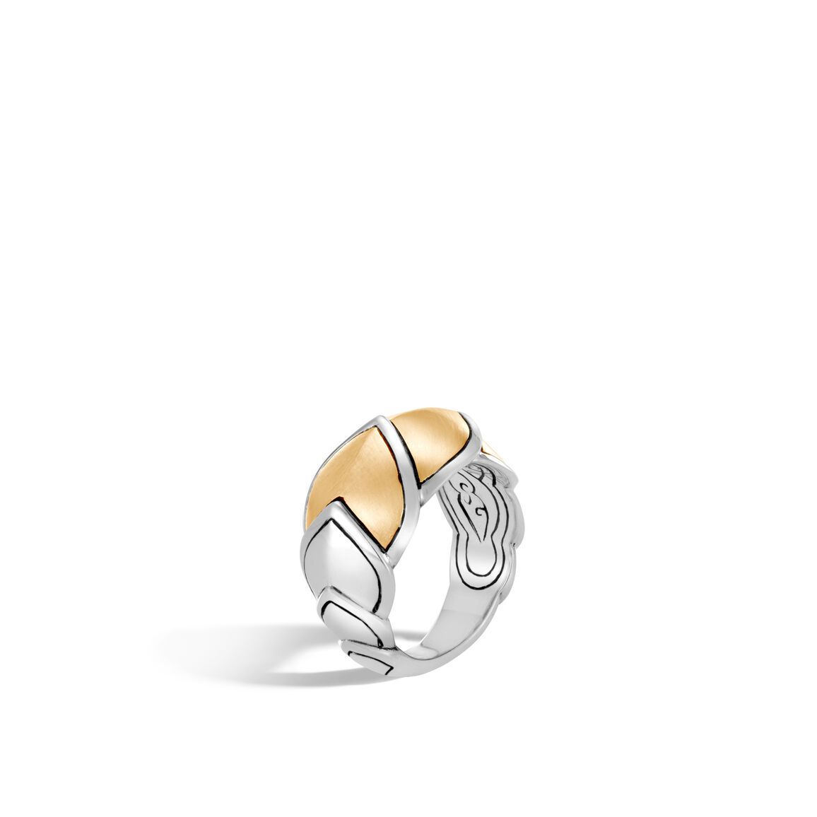 Legends Naga 15MM Ring in Silver and Brushed 18K Gold