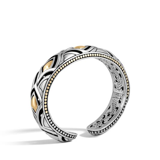 Legends Naga 14MM Kick Cuff in Silver and 18K Gold , , large
