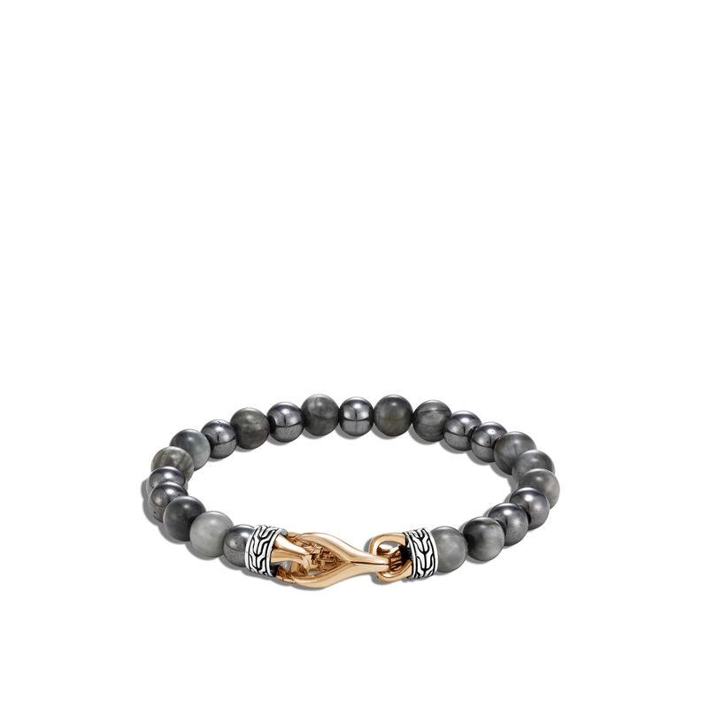 Asli Classic Chain Link Bead Bracelet in Silver, Bronze, Eagle Eye, large