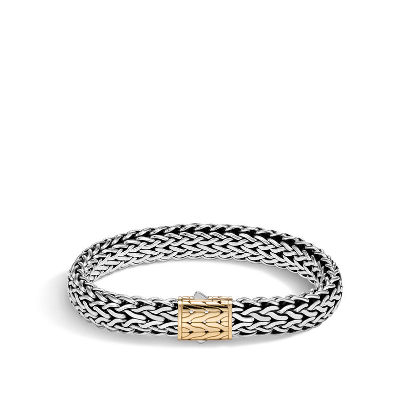 Classic Chain 11MM Bracelet in Silver and 18K Gold, , large