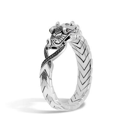 Legends Naga Bracelet in Brushed Silver with Gemstone