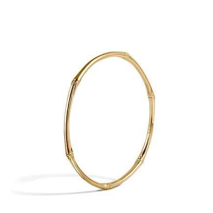 Bamboo 2.5MM Bangle in 18K Gold