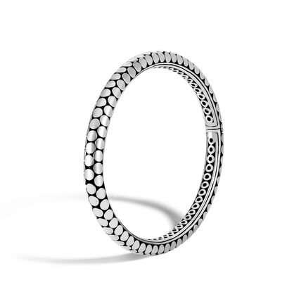 Dot 5MM Hinged Bangle in Silver