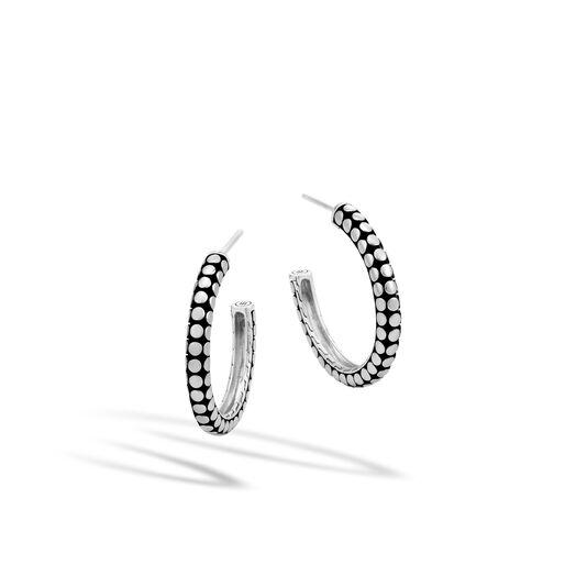 Dot Medium Hoop Earring in Silver, , large