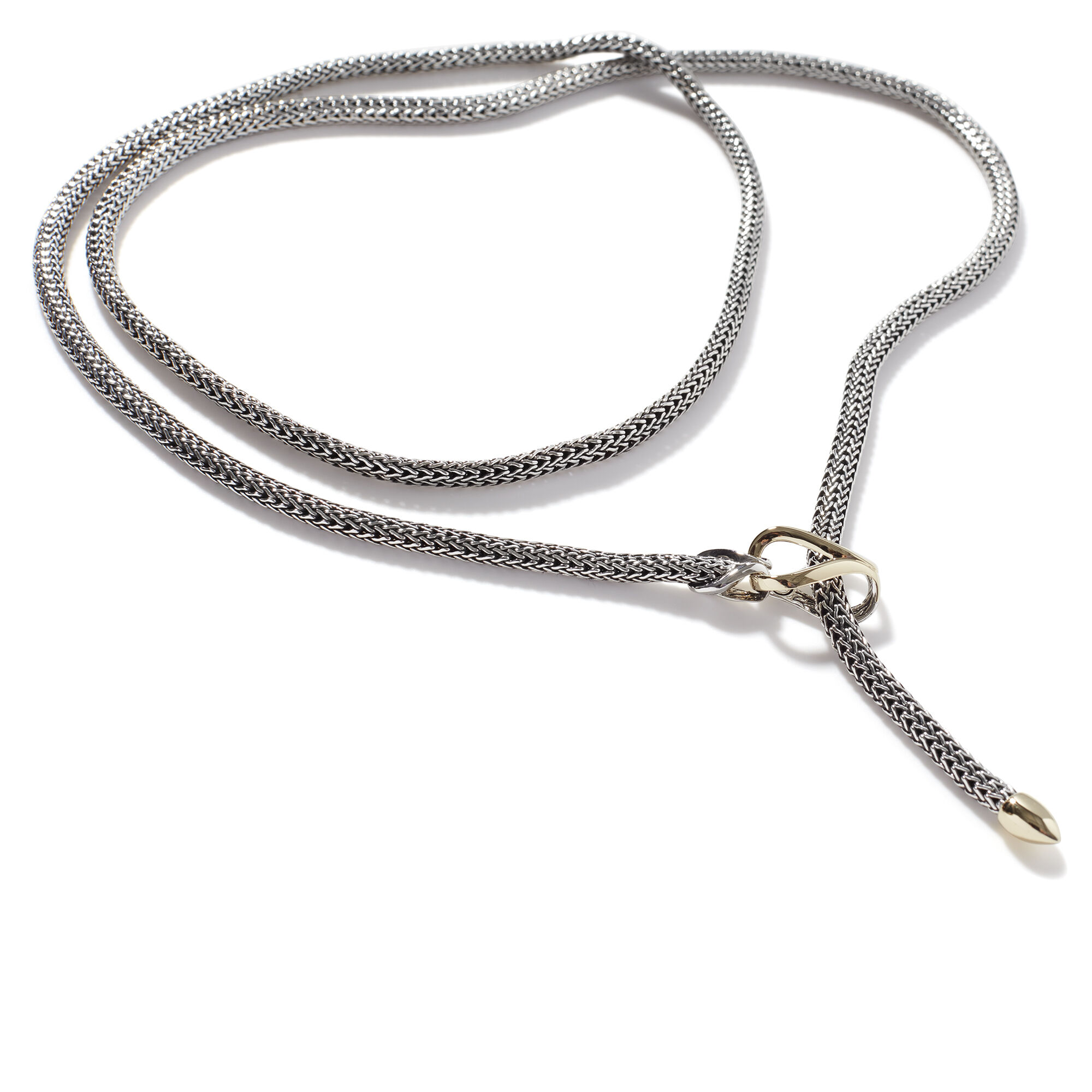 Asli Chain Link Transformable Lariat Necklace, Silver, 18K Gold, , large