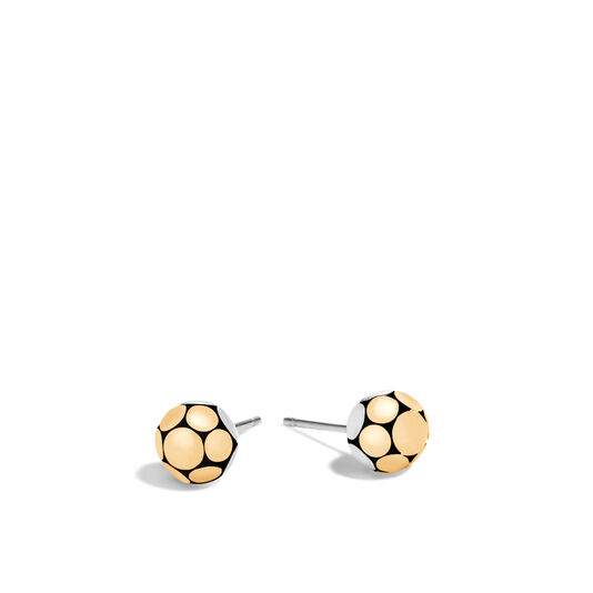 Dot Stud Earring in Silver and 18K Gold, , large