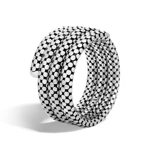 Dot Triple Coil Bracelet in Silver, , large