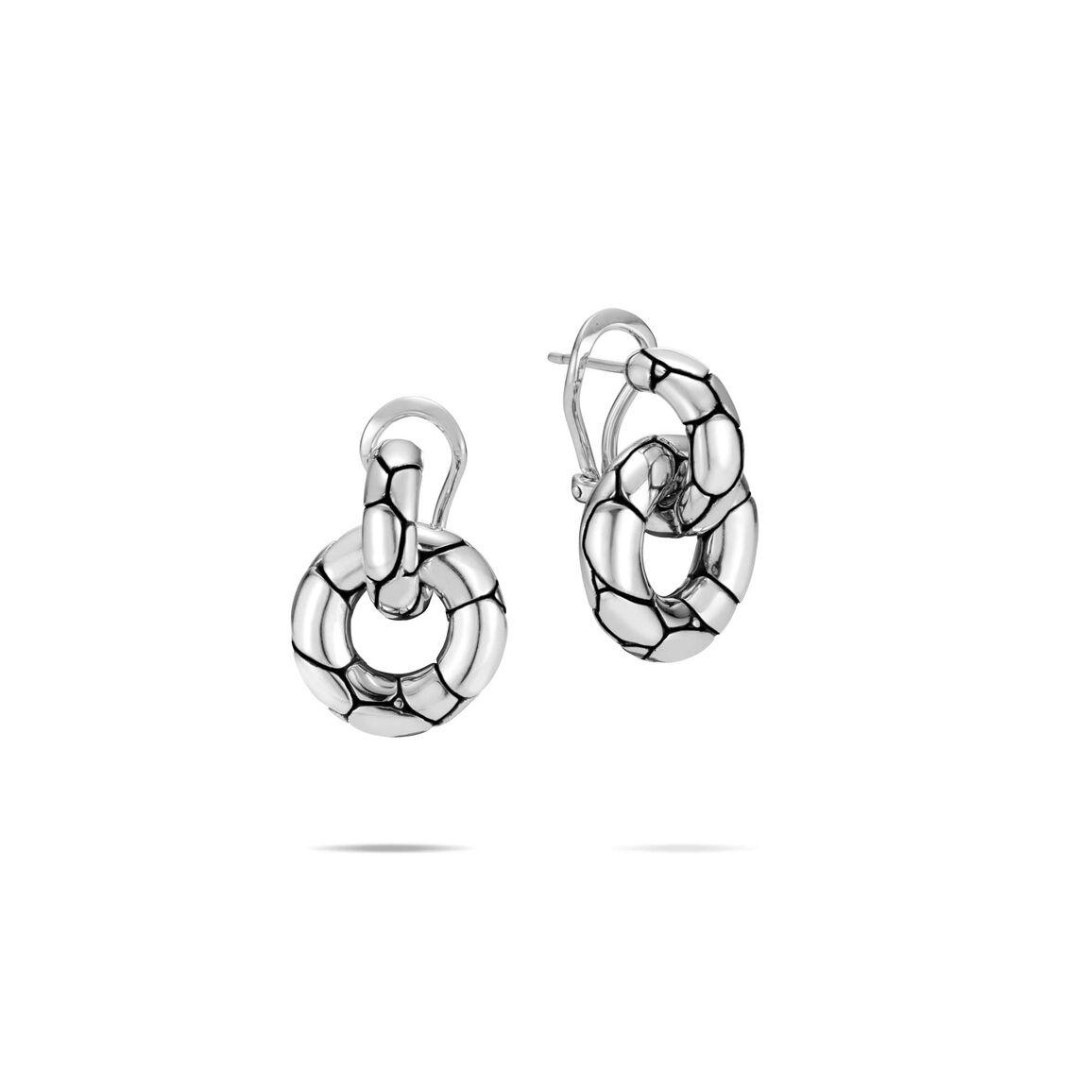 Kali Door Knocker Earring in Silver