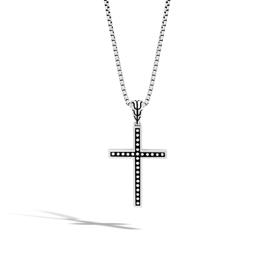 Chain Jawan Cross Pendant in Silver