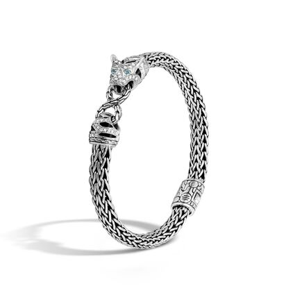 Legends Macan 6.5MM Station Bracelet in Silver with Diamonds