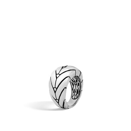 Modern Chain 12.5MM Ring in Silver