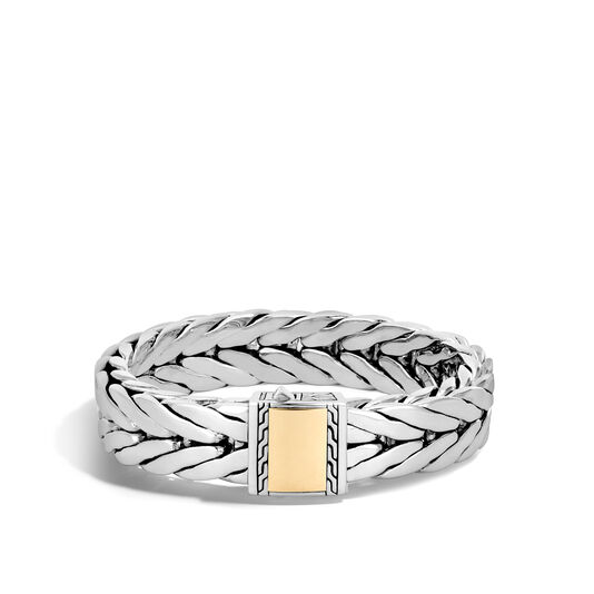 Modern Chain 16MM Bracelet in Silver and 18K Gold, , large