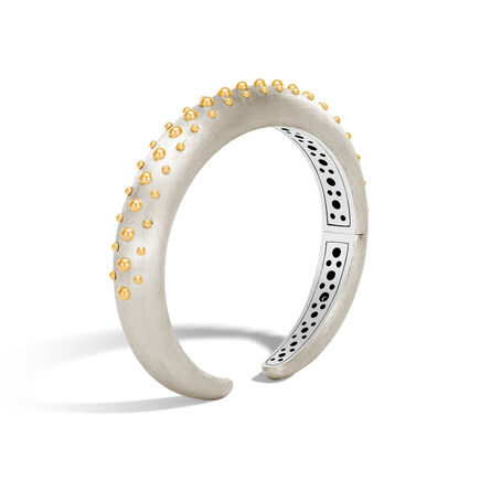 Dot 10MM Kick Cuff in Brushed Silver and 18K Gold