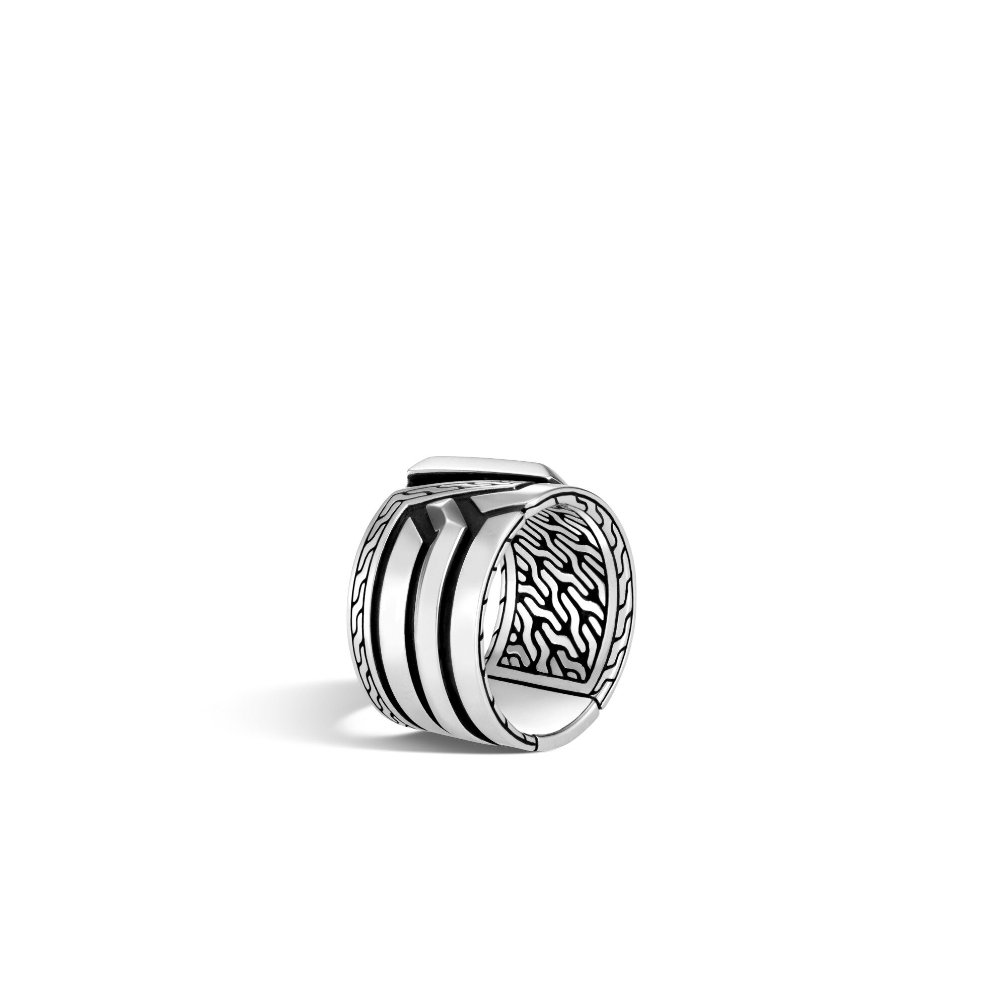Classic Chain Band Ring in Silver, , large