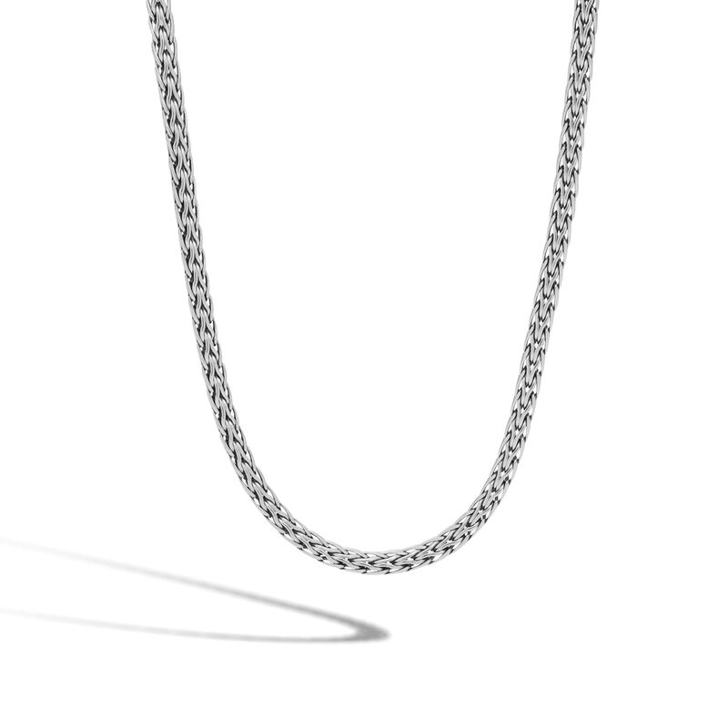 Classic Chain 3.5MM Woven Necklace in Silver, , large