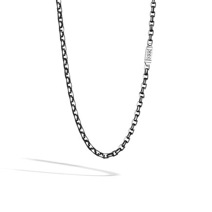 Classic Chain 5.6MM Box Chain in Silver with Blacked Silver