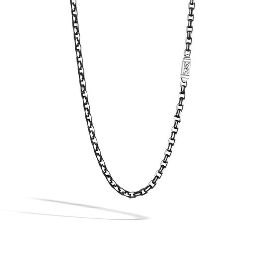 Classic Chain 5.6MM Box Chain in Silver with Blacked Silver, , large