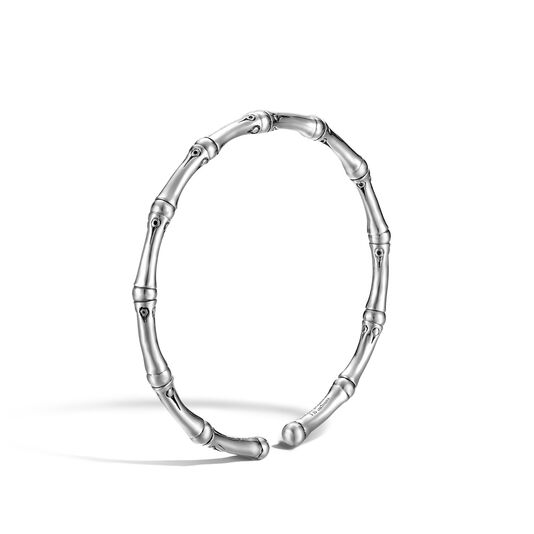 Bamboo 4MM Cuff in Silver, , large