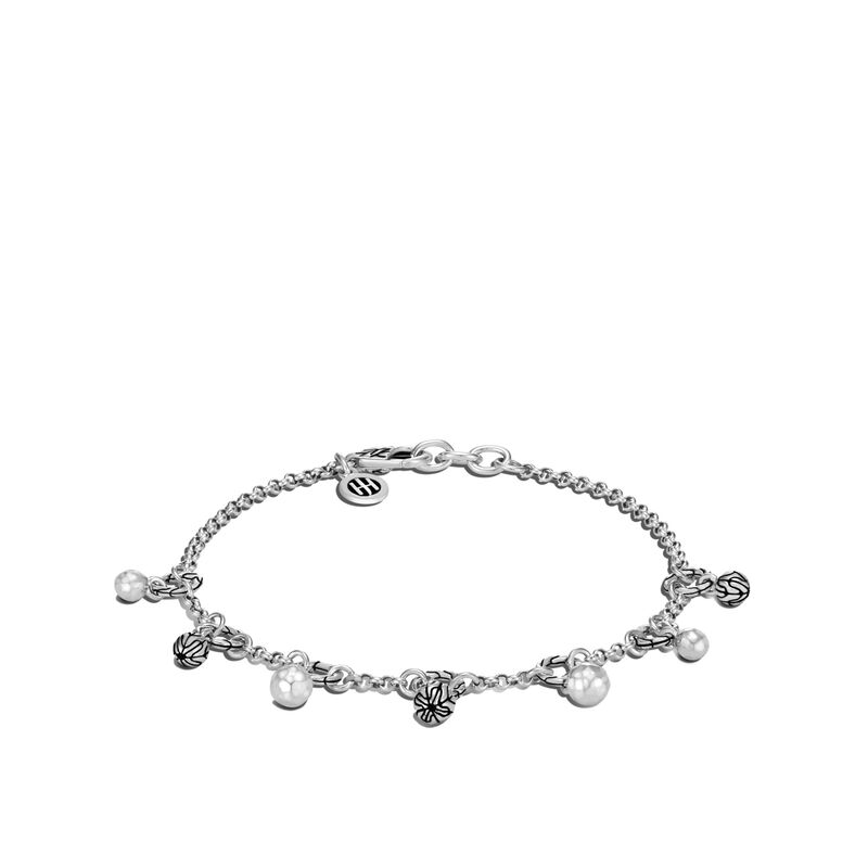 Classic Chain Bracelet in Hammered Silver, , large