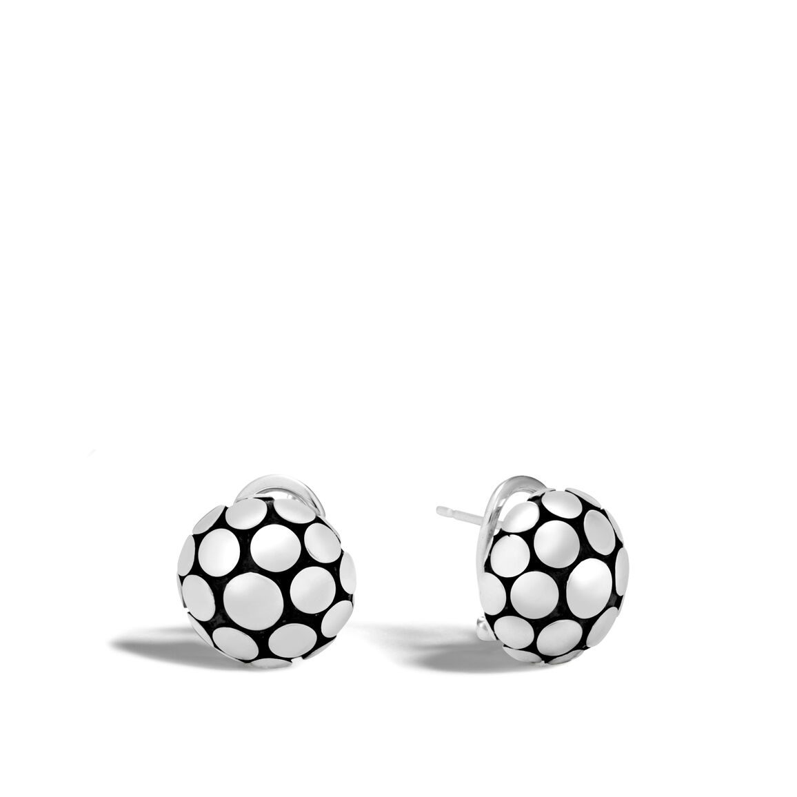 Dot Button Earring in Silver