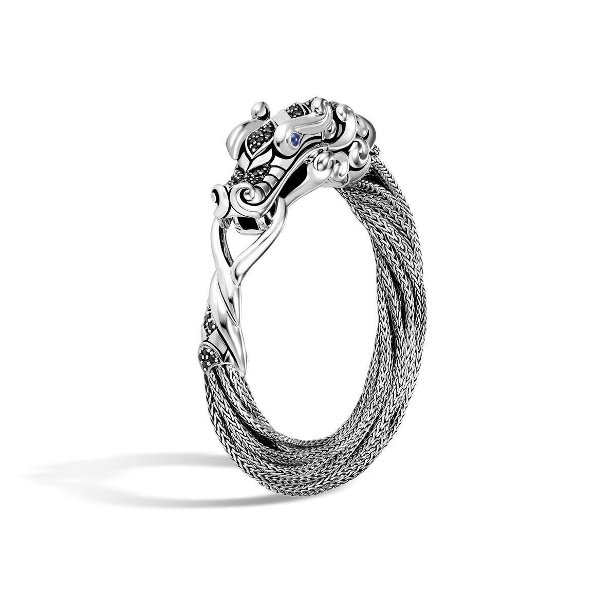 Legends Naga Multi Row Bracelet in Silver with Gemstone