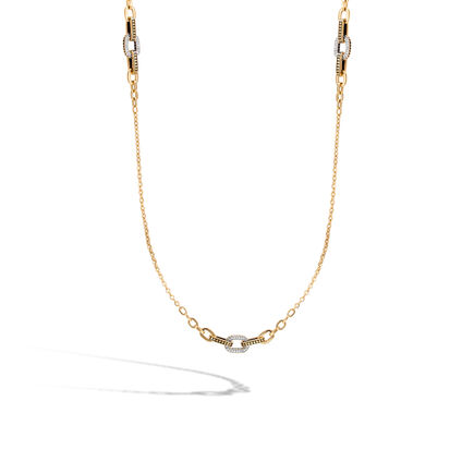 Dot Link Necklace in 18K Gold