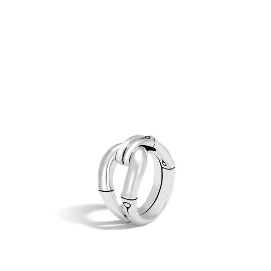 Bamboo Ring in Silver, , large
