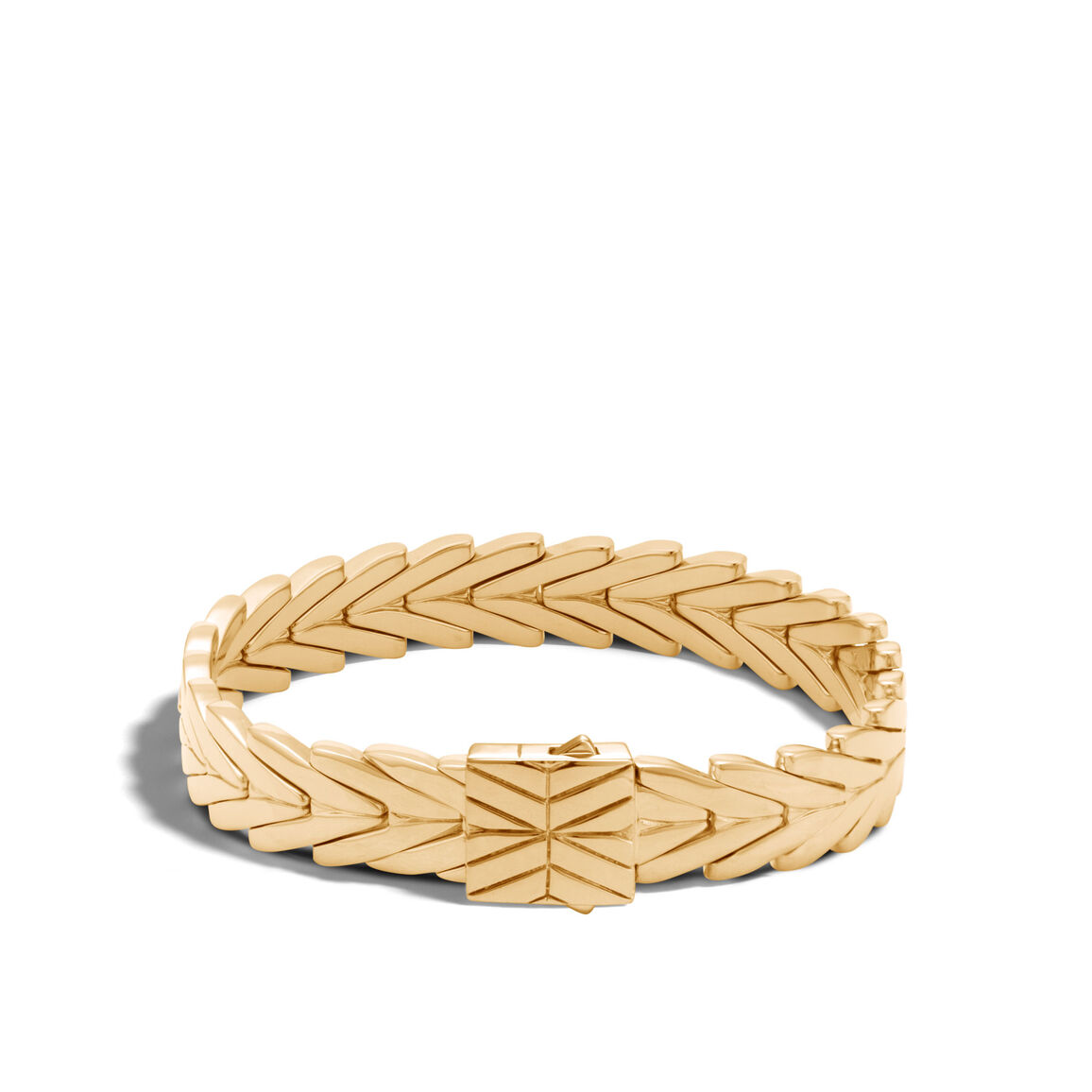 Modern Chain 11MM Bracelet in 18K Gold