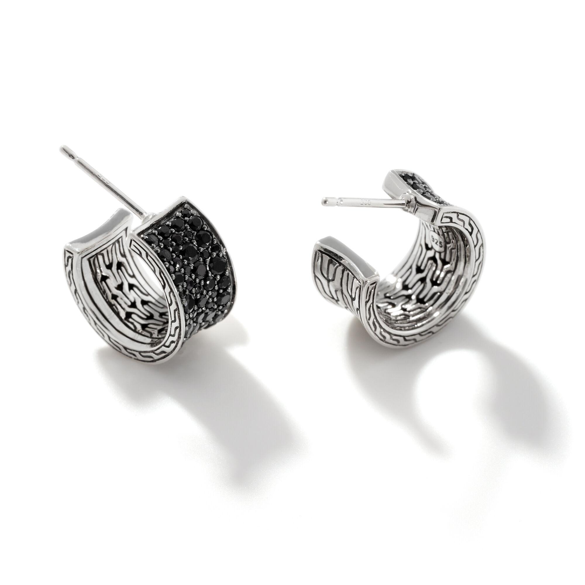 Pavé J Hoop Earring, , large