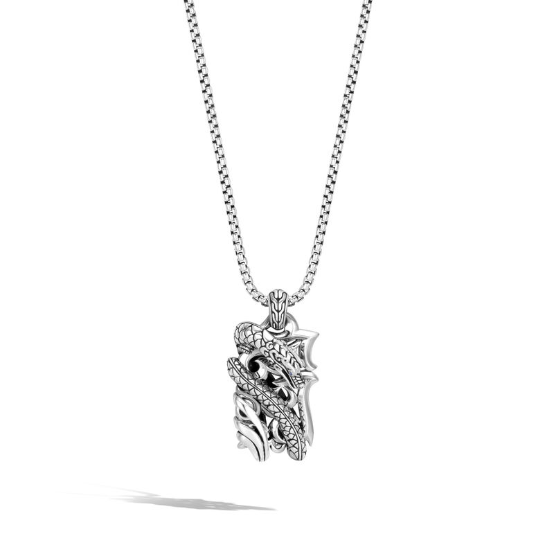 Legends Naga Dog Tag Necklace in Silver, , large