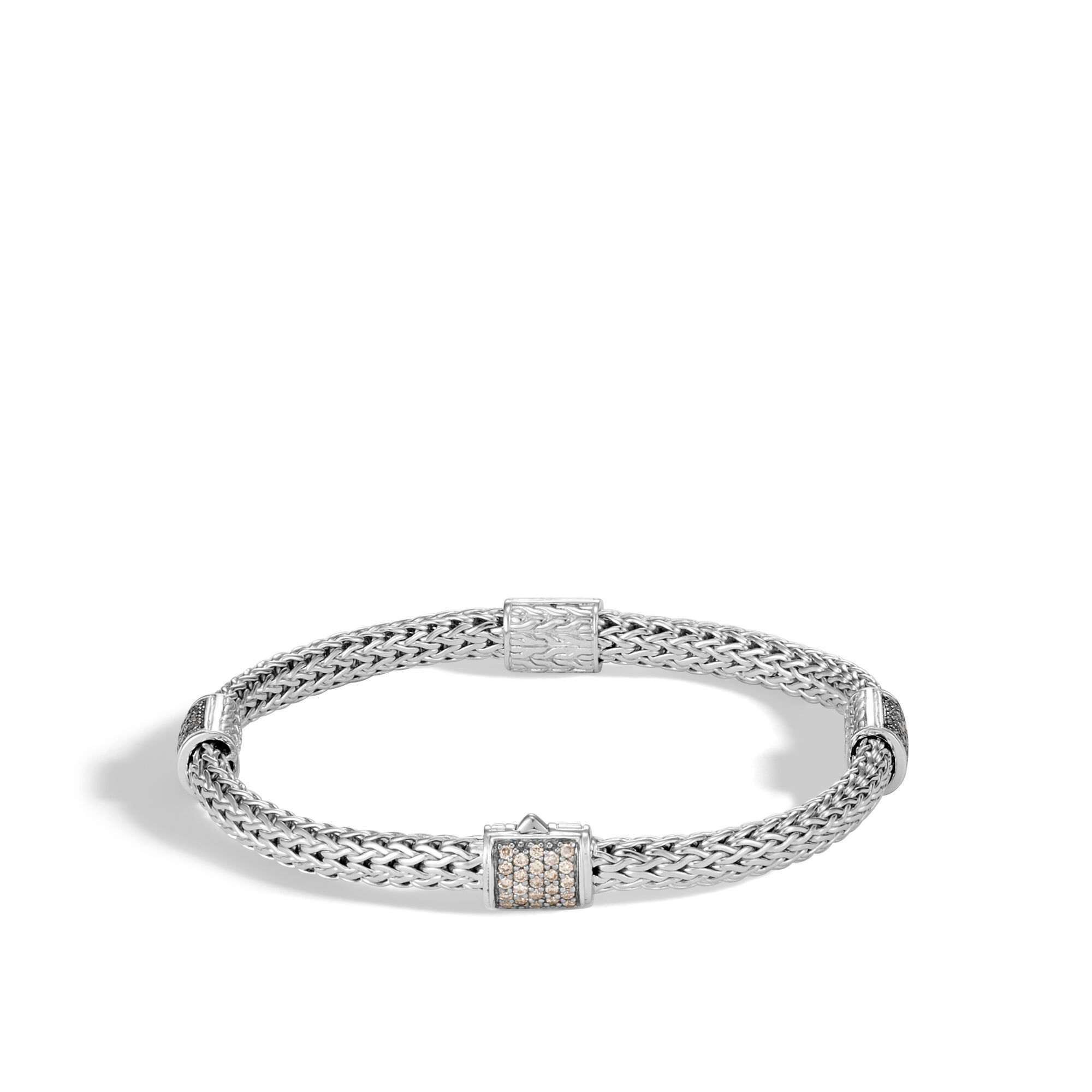 John Hardy Classic Chain Bracelet With Champagne Diamonds Xs Champagne diamond Pr8dVR