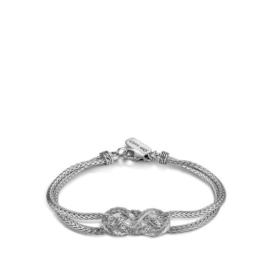 Classic Chain Love Knot Bracelet in Silver, , large