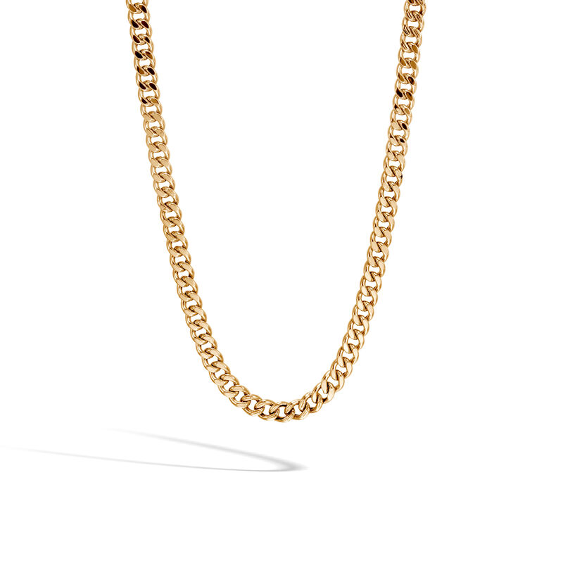 Classic Chain 6 5mm Curb Link Necklace In 18k Gold