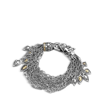 Legends Naga Multi Row Bracelet in Silver and 18K Gold