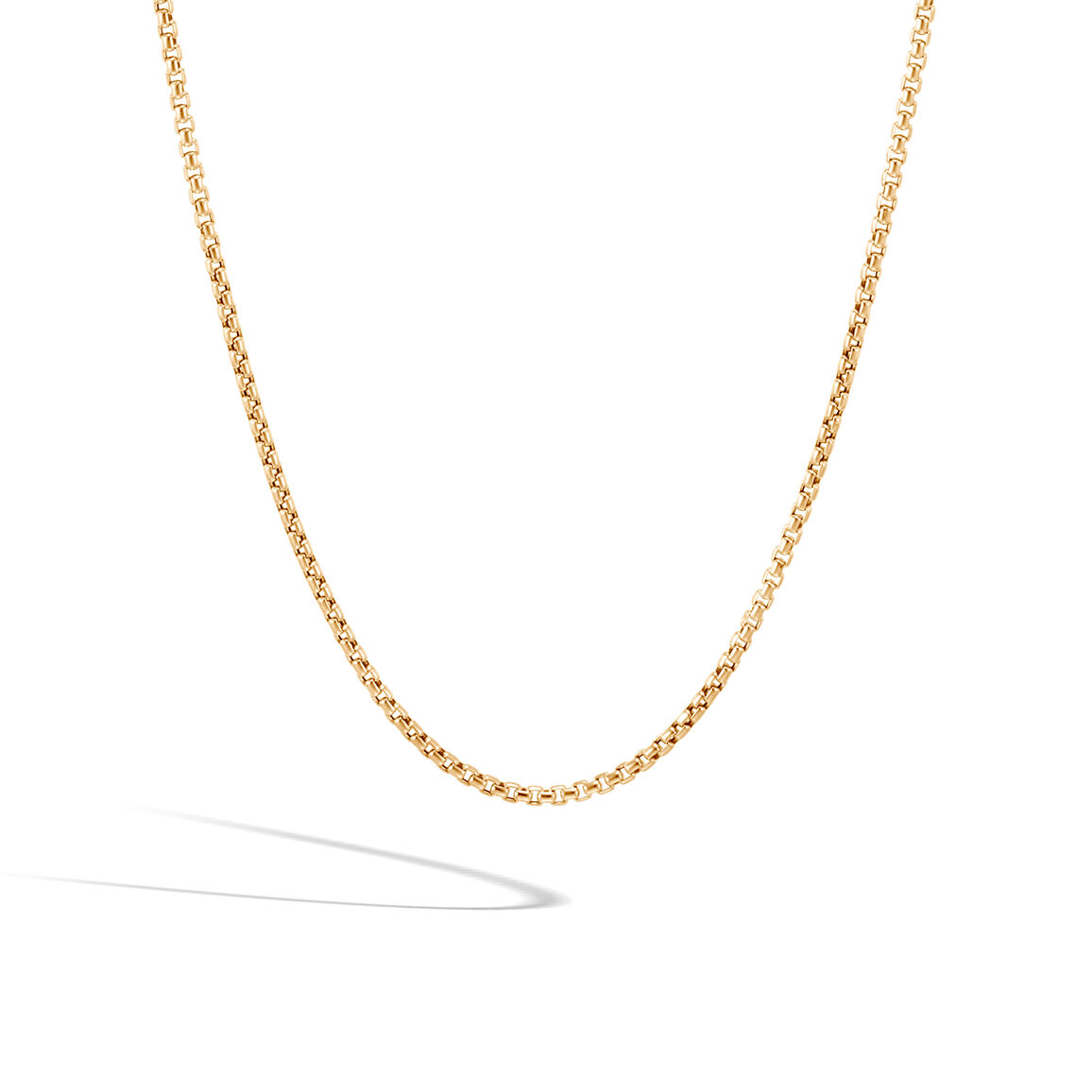 2.5MM Box Chain Necklace in 18K Gold