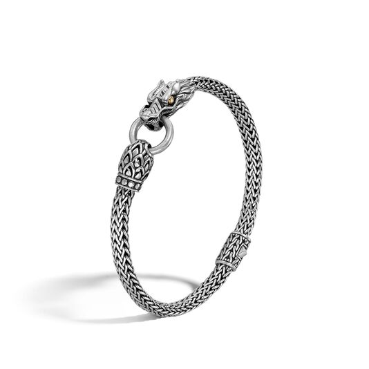 Legends Naga 5MM Station Bracelet in Silver and 18K Gold , , large