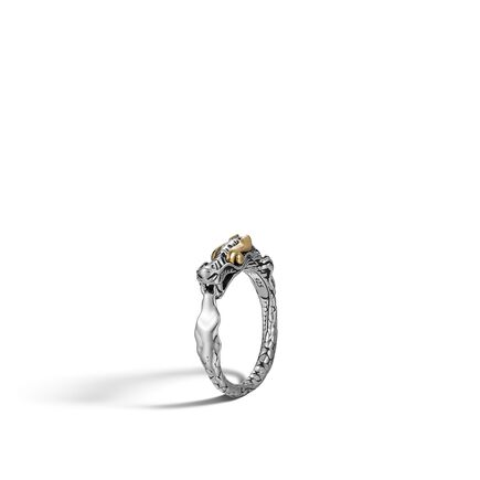 Legends Naga Ring in Silver and 18K Gold