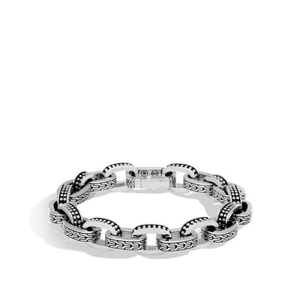 Chain Jawan 11MM Link Bracelet in Silver