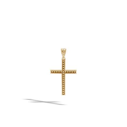 Chain Jawan Cross Pendant in 18K Gold