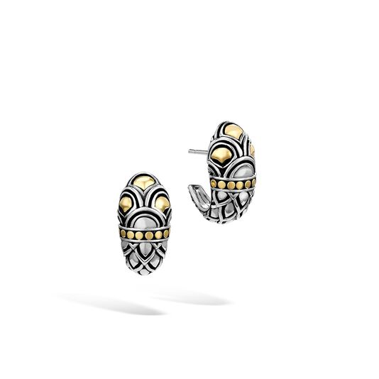 Legends Naga Buddha Belly Earring in Silver and 18K Gold , , large