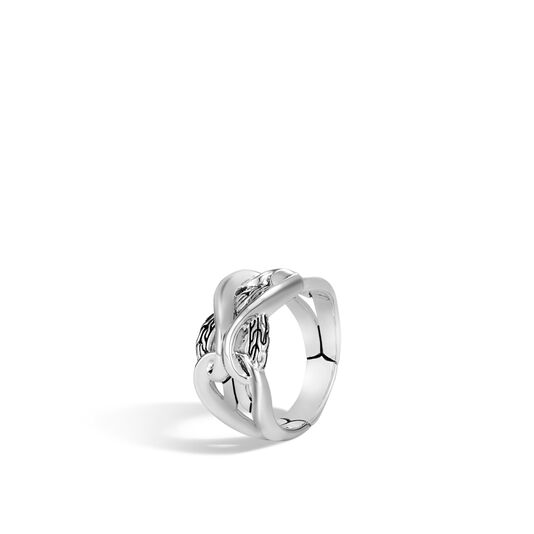 Asli Classic Chain Link 13.5MM Band Ring in Silver, , large