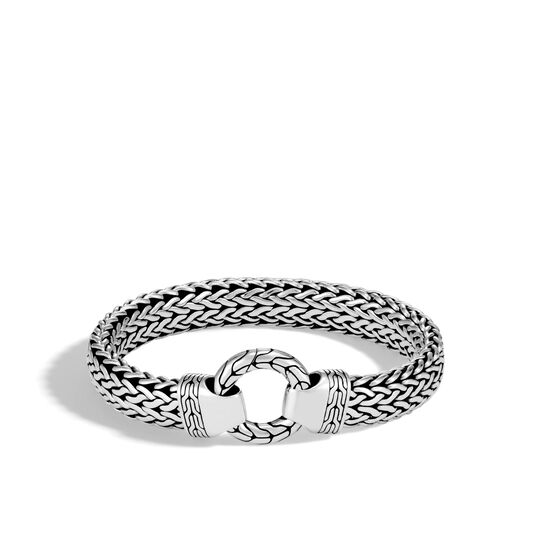 Classic Chain 11MM Ring Clasp Bracelet in Silver, , large