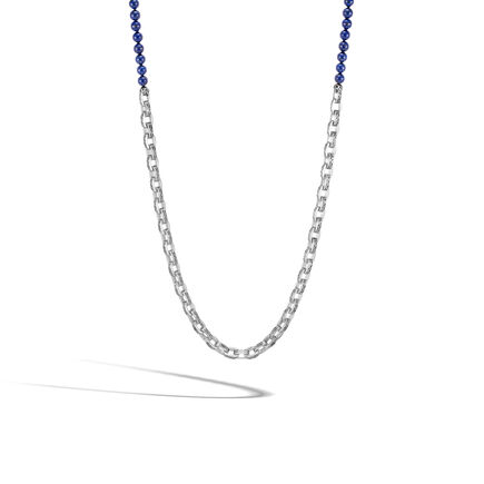 b74417a4feac7 Classic Chain Link Necklace in Silver with 6MM Gemstone