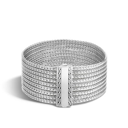 Classic Chain Nine Row Bracelet in Silver