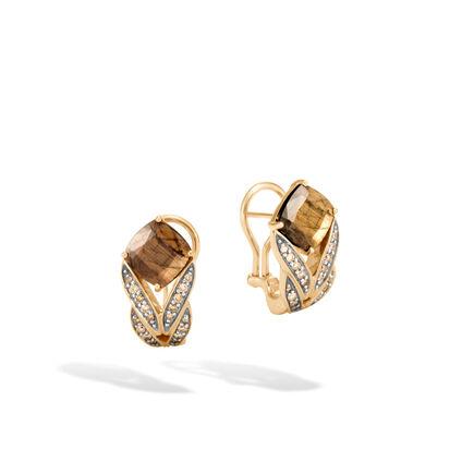 Modern Chain Magic Cut Earring,18K Gold, Gem, Dia